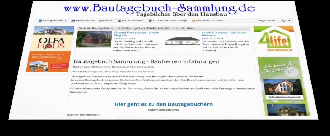 Bautagebuch Sammlung